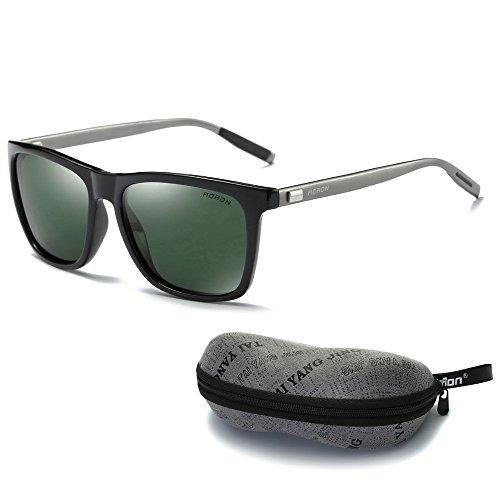 AORON Unisex Polarized Aluminum Sunglasses, 100% UV400 Protection, Aviator Sun Glasses, Vintage Night Sight Eyewear, for Men/Women with Safe Box - - Aoron Sunglasses