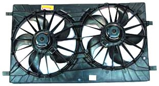 TYC 621570 Chrysler Replacement Radiator/Condenser Cooling Fan Assembly