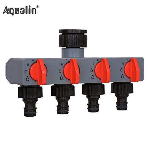 Laliva 4 Way Water Distributor Tap Adapter Plastic Connector Hose Splitters for Hose Tube Water Faucet#27208 - (Diameter: 3 Quater and 1 -