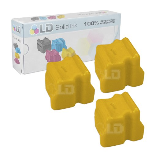 LD Xerox WorkCentre C2424 Compatible 3 Yellow 108R00662 Solid Ink ColorStix Cartridge C2424 Solid Ink Color Printer