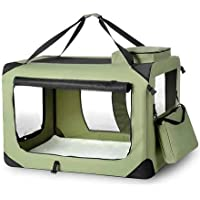 Portable Foldable Soft Dog Crate-4XL-Army Green