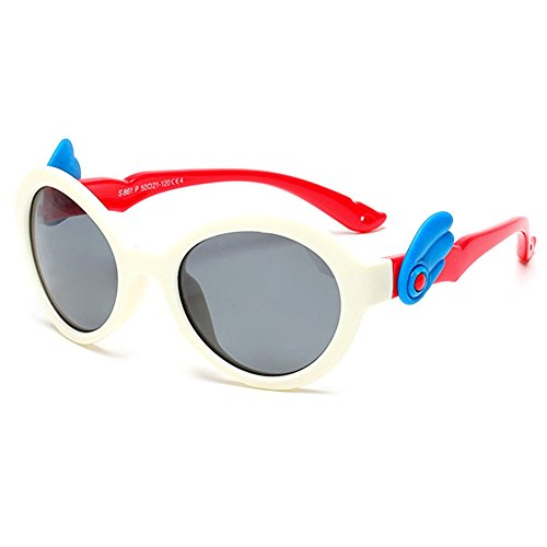 TIJN Kids Rubber Polarized Safety Wings Sunglasses for Children Girls Ages - Top 10 Brand Goggles