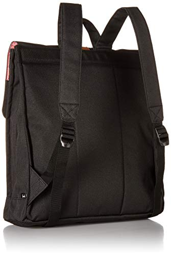 Herschel City Mid-Volume Backpack Black Tan Synthetic Leather One Size
