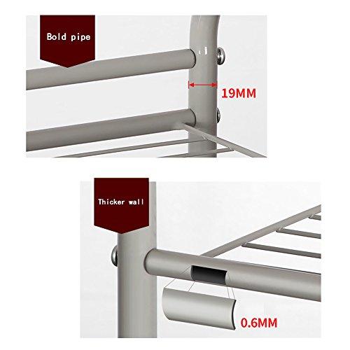 YAONIEO 4-Tiers Heavy Duty Kitchen Storage Bakers Organizer Rack Utility Shelves 18.89'' L x 13.78'' W x 47.6'' H Silver Grey by YAONIEO (Image #5)