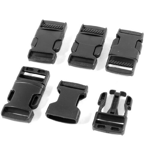 EbuyChX Side Quick Release Buckle Luggage Strap Parts 0.8 Inch Width 5 Pcs