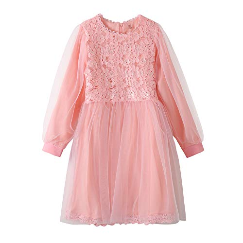 YUEXIN Big Girls Lace Flower Tulle Dress Kids Party Dance Outfits Evening Gowns -
