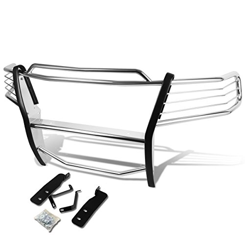 For Ford F150 Pickup Truck Front Bumper Protector Brush Grille Guard [Chrome] (Grill F150 Guard)