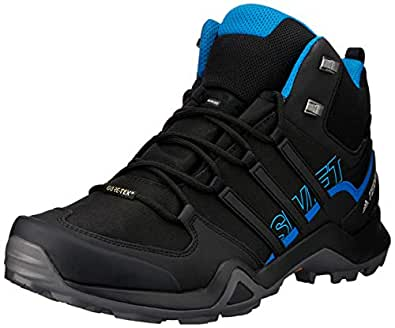 adidas Australia Men's Terrex Swift R2 Mid GTX Hikings Boots, Core Black/Core Black/Bright Blue, 6.5 US