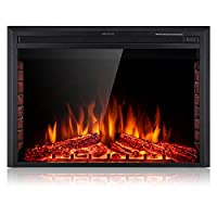SUNLEI Electric Fireplace Insert, Built ...