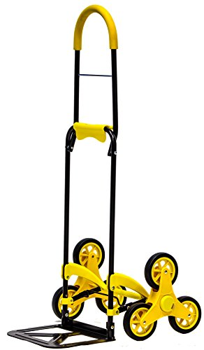 dbest products Mighty Max Stairglider Personal Dolly, Yellow  Stair Climber Cart Handtruck Hardware Garden Utilty