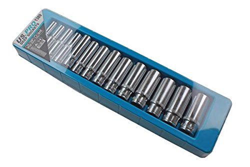 US Pro 14 pc 3//8 Dr 8-21mm Deep Single Hex Socket Set 6 Point B1389