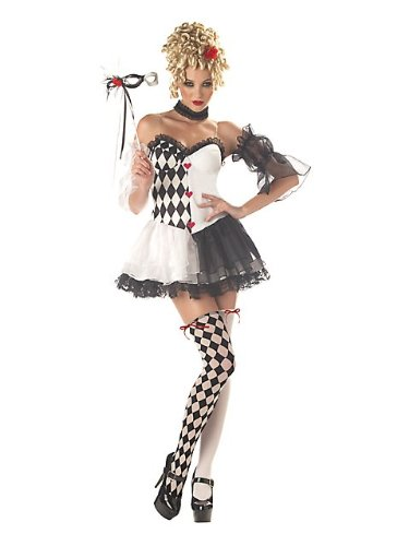 [Le Belle Harlequin Adult Womens Costume WOMEN ADULT MEDIUM] (Le Belle Harlequin Adult Costumes)