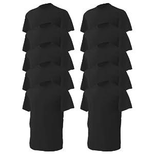 Gildan mens Heavy Cotton 5.3 oz. T-Shirt(G500)-BLACK-L-10PK