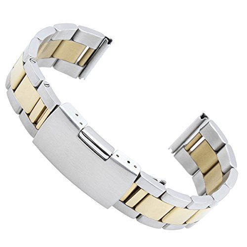 green-olive-22mm-stainless-steel-bracelet-watch-band-strap-straight-end-solid-links-gold-silver