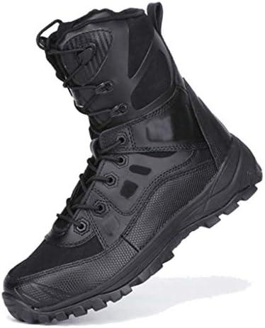 軍事戦術ナイロンコンポジットTPUは暖かいハイヘルプレースアップスタイルハイキングブーツの滑り止め耐摩耗ラバーソールをキープ (色 : 黒, サイズ : 25 CM)