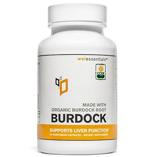 (Organic Burdock Root (1000mg Per Serving) (Vegetarian Capsules) (1 Bottle) )