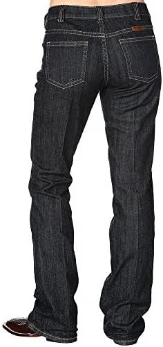 Cowgirl Tuff Co. Womens Just Tuff Dark Riding Jeans
