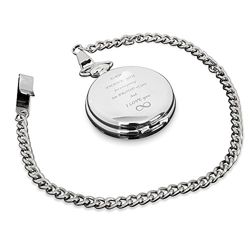 Pocket Engraved (Perfect Gift for Son or Daughter to Father with engraved Love message. Pocket Watch)