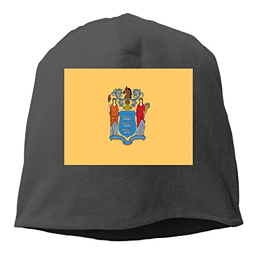 Flag of New Jersey Men & Women Unisex Soft Hat Skull Cap Beanie Hat Knit Hat - Motorcycle Baseball Jersey