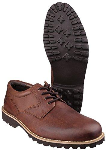Cotswold Hombre Tuffley Zapatos Smart Casual Cierre Cordones Plantilla de Cuero Marrón 39 Marrón