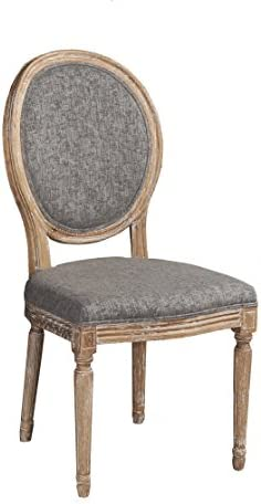 Linon Avalon Wood Oval Back Set of Two Dining Chair