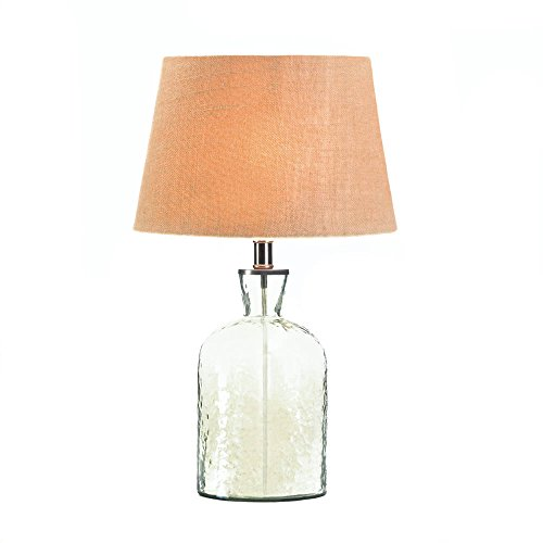 Koehler 10017606 23.5 Inch Hammered Glass Jug Table Lamp