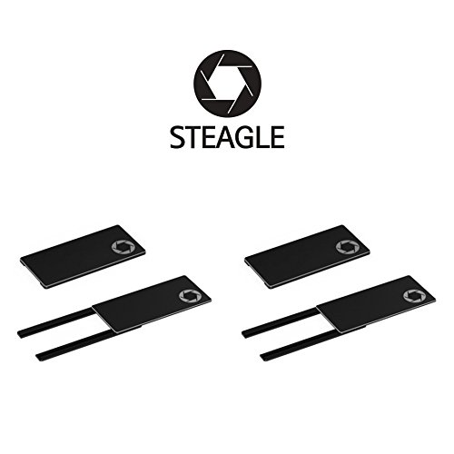 STEAGLE Two Pack (Black x 2) Premium Laptop Webcam Cover for your privacy – Macbook – Laptop - PC by STEAGLE