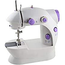 Mini Portable Sewing Machine,Kid's Sewing Machine Handheld With 2-Speed, Double Thread, Double Speed With Light and Cutter