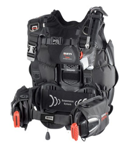 Mares Hybrid Pure with MRS + Scuba Diving Plus BC/BCD Buoyancy Compensator (X-Large(33.7lbs of lift))
