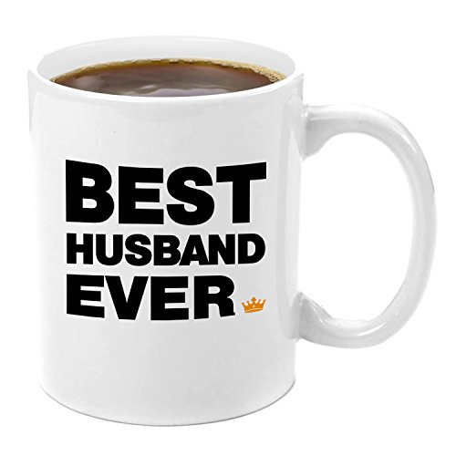 Best Husband Ever | Premium 11oz Coffee Mug Set - My Husband Gifts, Gifts from Wife, Husband and Wife Gifts, Gift Ideas From Wife Valentine's Day Husband Birthday Gifts Good Great Best Perfect Awesome