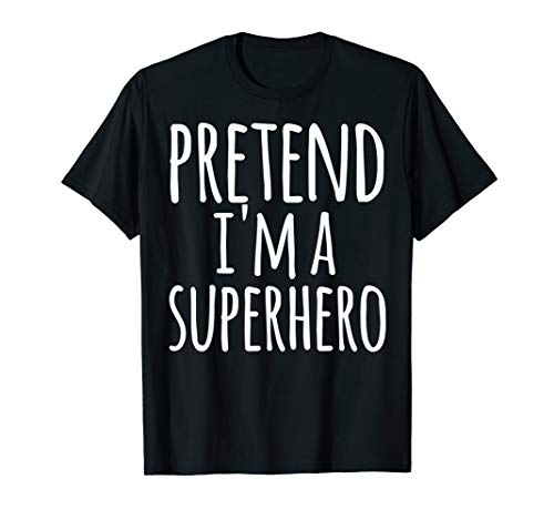 Funny Superhero Costume (Funny Easy Lazy Halloween PRETEND I'M A SUPERHERO Costume )