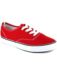 Women's Sneakers Casual Canvas Shoes Solid Colors Low Top Lace Up Flat Fashion 2.0