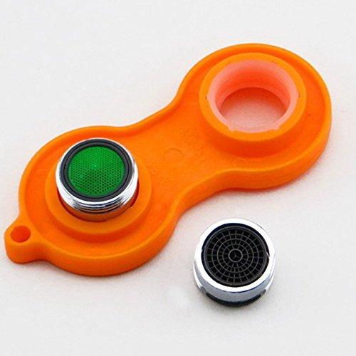 Ioffersuper Plastic Sprinkle Faucet Aerator Tool Spanner Wrench Sanitaryware Repair Tool Orange