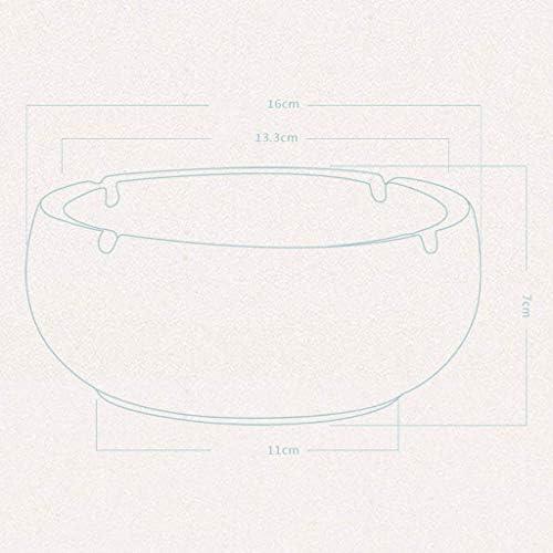 SRX 携帯灰皿青と白のセラミックヨーロッパのレトロリビングルームの灰皿ブティック大実践セラミック灰皿スタイリッシュな創造的パーソナリティオフィスラウンド灰皿ホームテーブルアッシュトレイ