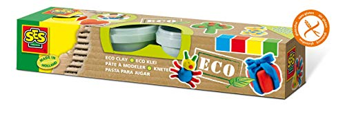 SES Creative Eco Super Clay, Set of 4 Colors (Parable Of The Talents For Children Craft)