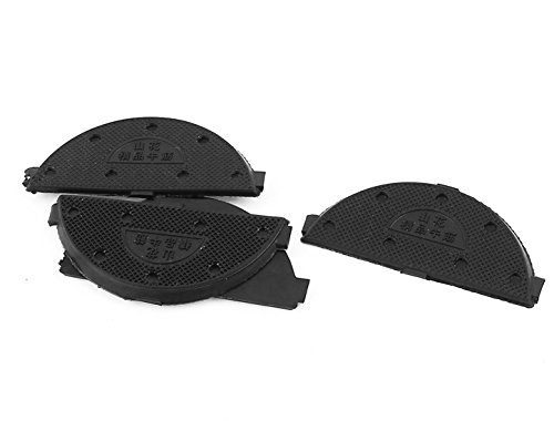 uxcell Rubber Antislip Shoes Sole Heel Guard Plate Repair Taps 2 Pairs Black