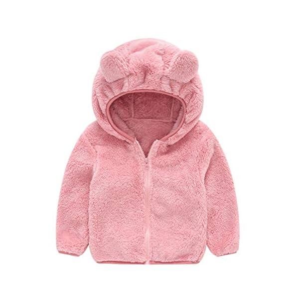 Fenical Cappotto con Cappuccio in Pelliccia Sintetica per Bambini Giacca a Mantello Invernale in Peluche a Forma di Orso… 1