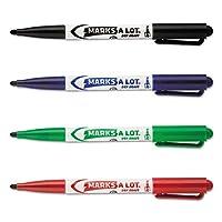 Avery 29860 MARK A LOT Marcadores de borrado en seco estilo pluma, punta de bala, surtidos (juego de 24)