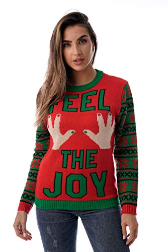 #followme Womens Ugly Christmas Sweater - Sweaters for Women 6773-223-XL