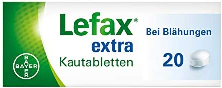 Lefax extra Kautabletten bei mäßigen Blähungen, Druck- und Völlegefühl, gasbedingten Bauchschmerzen, 20 Stück