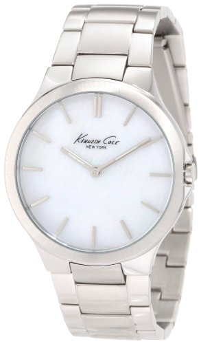 Kenneth Cole New York Men's KC4830 Slim Silver MOP Dial Bracelet (Swarovski Mop Dial)