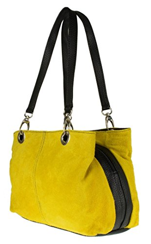 Bag Girly Italian Girly Yellow Suede Shoulder HandBags Leather HandBags qSR0twCC