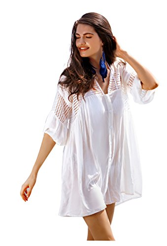 Collection Eyelet Button Up Swimsuit Coverup