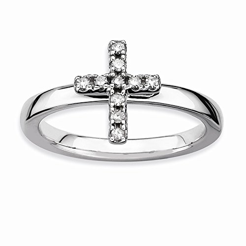 Stackable Expressions Sterling Silver Cross Diamond Ring from Stackable Expressions