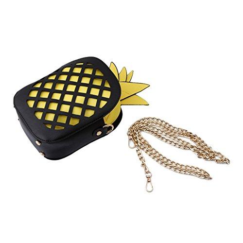 Chinget PU-Leder Mädchen Pineapple Mini Umhängetasche Ananas Crossbody Tasche Stil 2