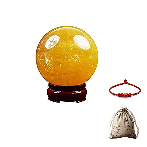 Feng Shui Natural Citrine Crystal Sphere Ball - Feng Shui Crystal for Wealth and Success