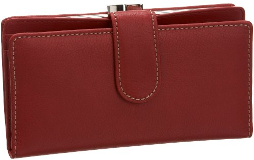 Mundi Suburban Rio Checkbook Wallet W Frame,Red,one size