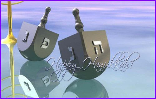 Pair of Hanukkah Dreidels - Etched Vinyl Stained Glass Film, Static Cling Window - Craft Hanukkah Dreidel