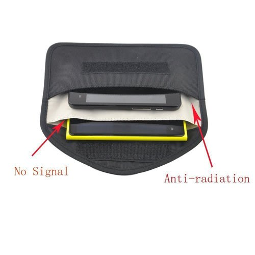 Signal Blocking Bag for iPhone 8 - Cell Phone Privacy Protection Anti-tracking Anti-spying Anti radiation Key Pouch Signal Blocker Signal Shielding Wallet Case Handset Function Bag