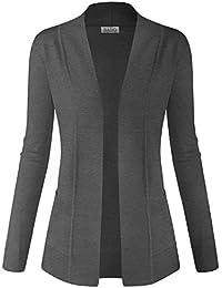 Women Classic Soft Long Sleeve Open Front Cardigan Sweater